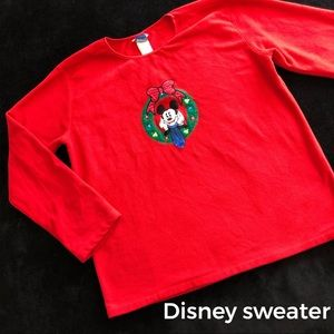 Mickey Mouse Red Disney Sweater